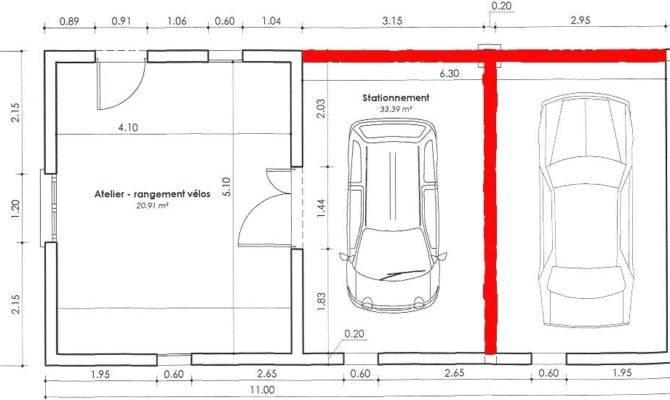 Typical Car Garage Standard Driveway