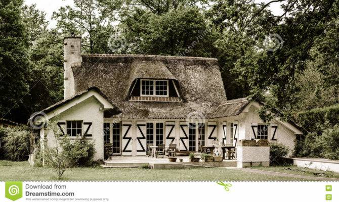 Typical French Countryside House Thatch Roof