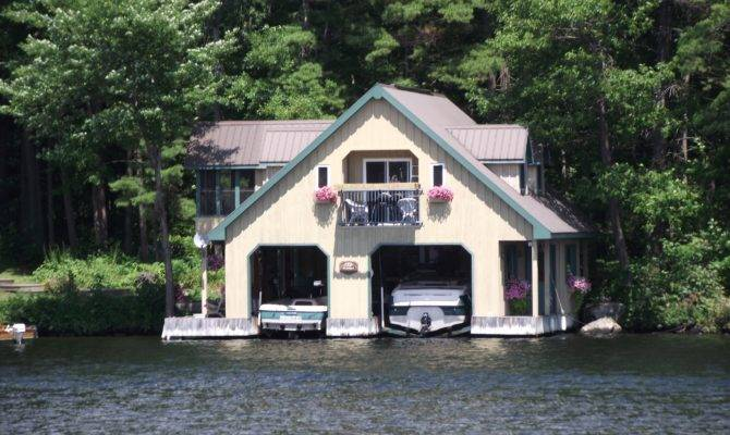 Typical Two Boat Garage Along Trent Severn