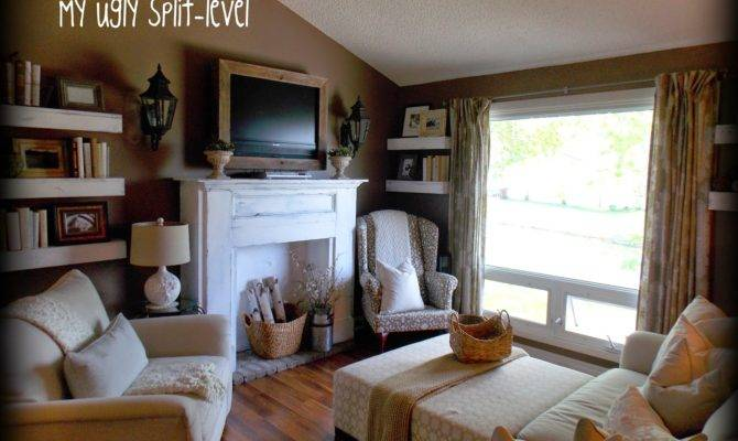 Ugly Split Level Diy Living Room Shelves