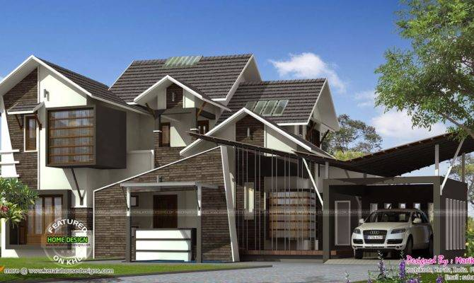Ultra Contemporary House Kerala Home Design Floor Plans