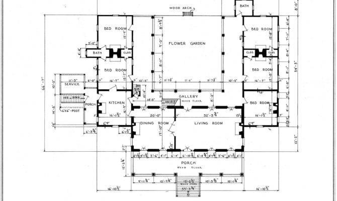 Umbria Plantation Architectural Plan Main Floor