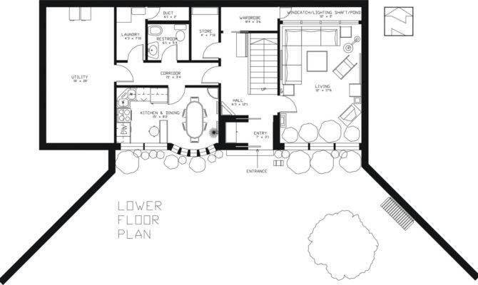 Underground House Floor Plan Earthsheltered Passive Home