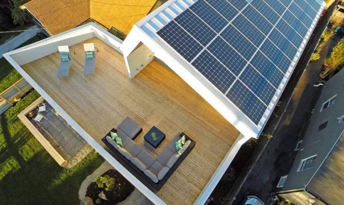 Unexpected Roof Design Solar Panels Zero Home