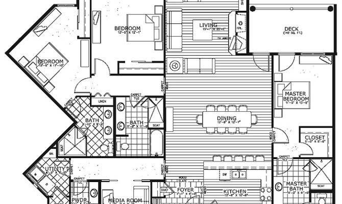 Unique Condo House Plans Floor Plan