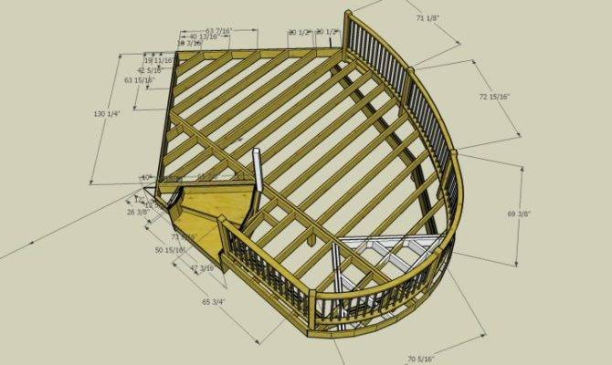 Unique Curved Deck Plans Home Blueprints