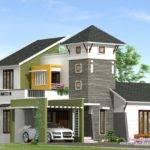 Unique Feet Villa Elevation Kerala Home Design