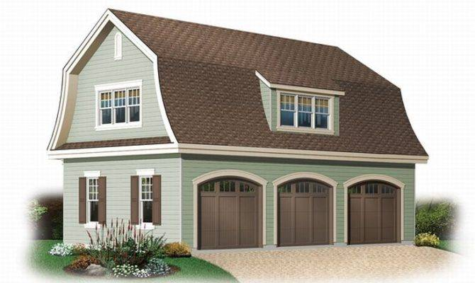 Unique Garage Plans Car Plan Gambrel Roof