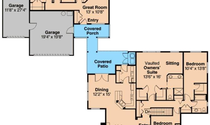 Unique Home Plan Guest Cottage