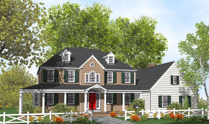 Unique Home Suite Colonial Architecture Plans