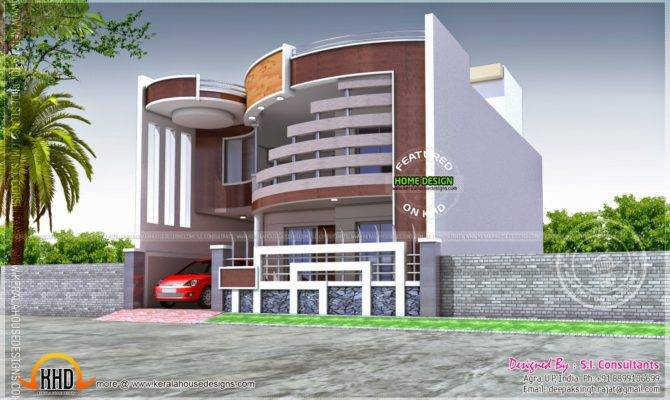 Unique House Ground First Floor Plan Kerala
