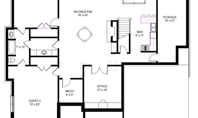 Unique House Plans Basements Ranch