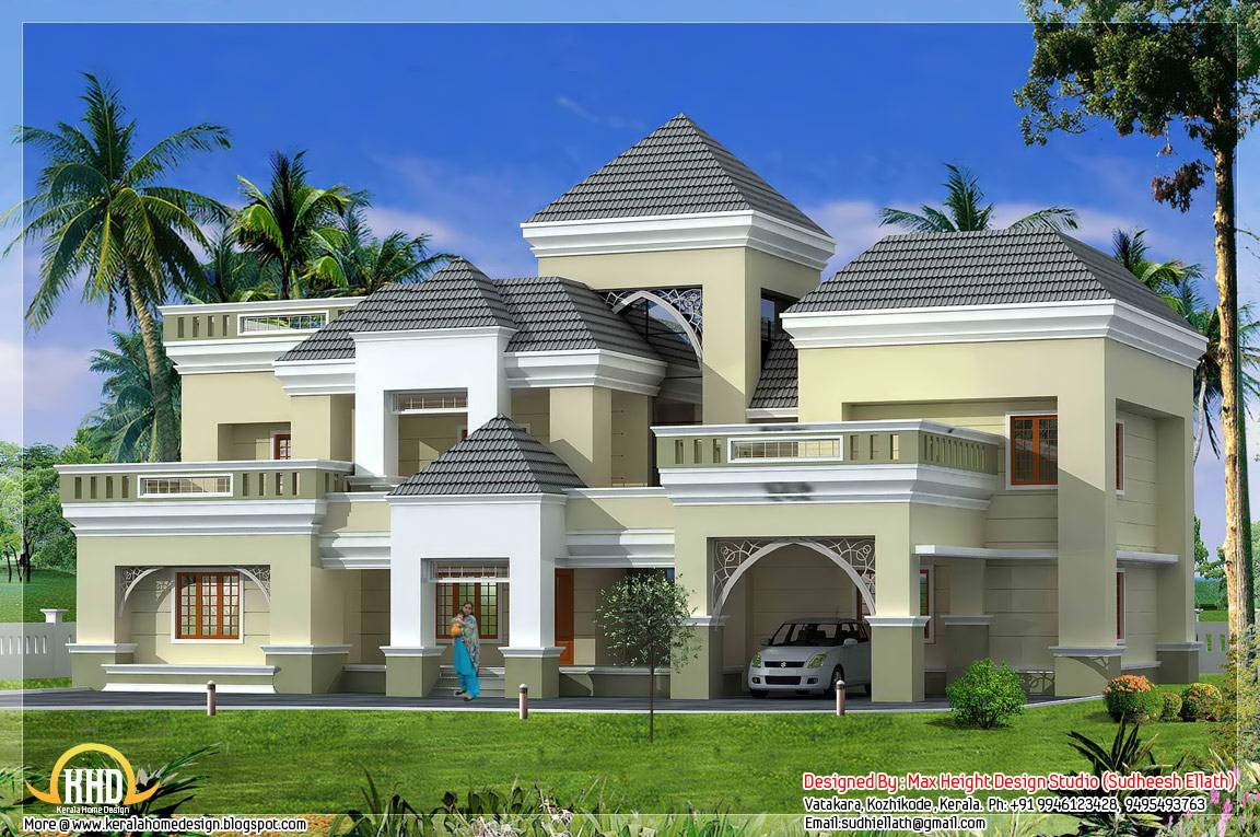 Unique Kerala Home Plan Elevation Design