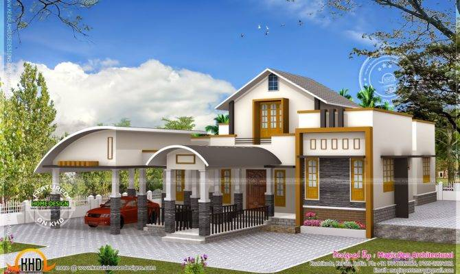 Unique One Floor Home Kerala Design Plans