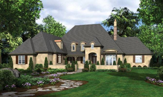 Unique One Story House Plans French Country Home