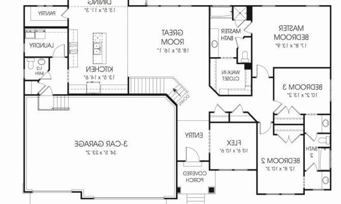 Unique Ranch House Plans Basement Car Garage Find