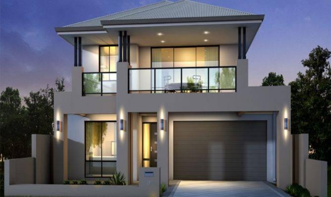 Unique Storey Modern House Designs Floor Plans