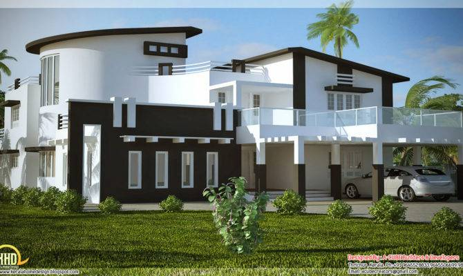 Unique Stylish Trendy Indian House Elevation Kerala Home Design