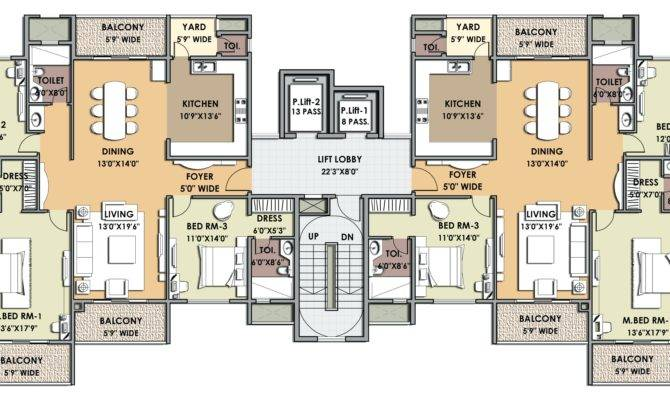 Unit Apartment Building Plans House Style