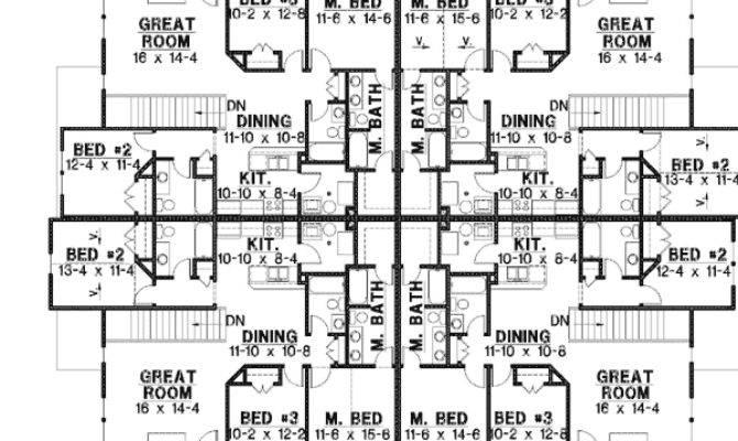 Unit House Plan Corner Decks