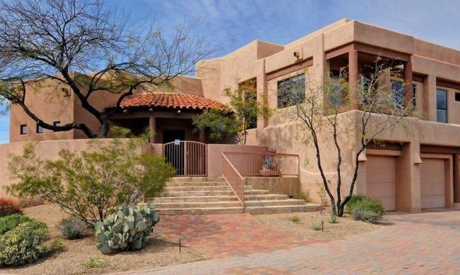 United States Arizona Cozy Southwest Adobe Style Home Desert
