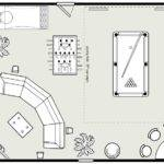 Universal Billiards Game Room Design Layout