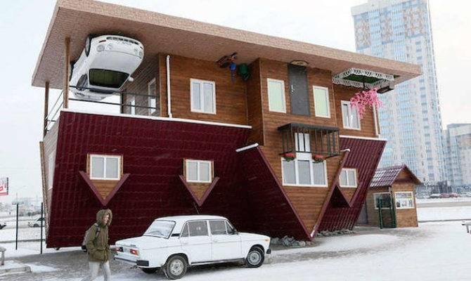 Upside Down House Siberia Fubiz