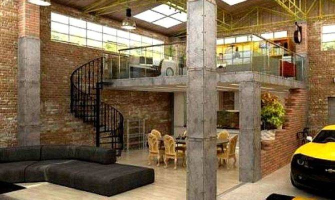 Urban Industrial Loft Apartment Garage Https