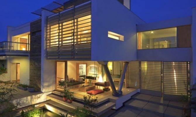 Urban Modern House Design Trees Lrg
