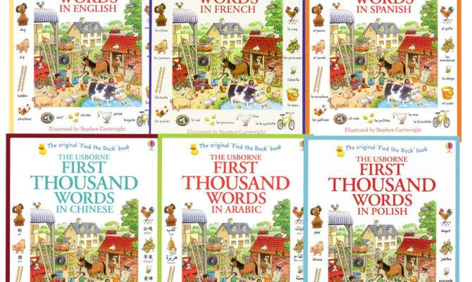 Usborne First Thousand Words Books Collection Set