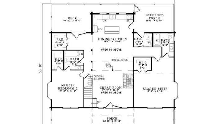 Vacation Log Home First Floor Houseplansandmore Homes