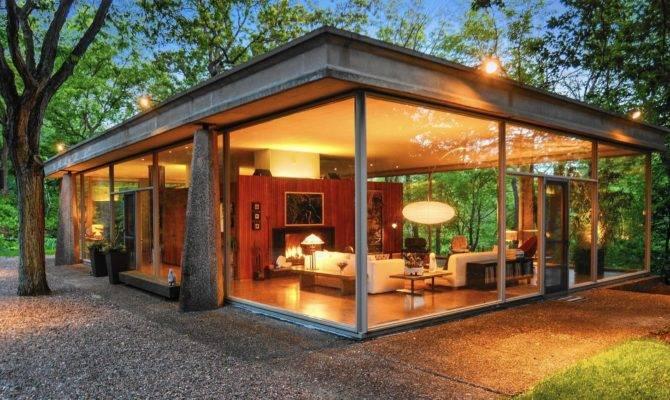 Van Der Rohe Protege Designed Glass House Sale