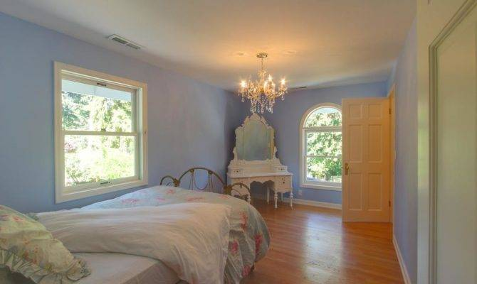 Vashon French Country Cottage Blue Bedroom