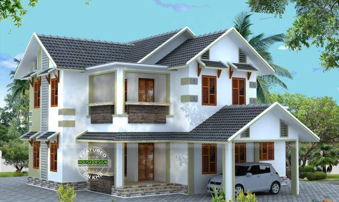 Vastu Compliant Sloping Roof House Kerala Home Design House Plans 166967