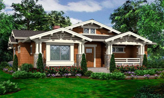 Vaulted One Story Bungalow Architectural