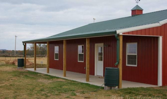 Very Simple Metal Pole Barn Home Oklahoma