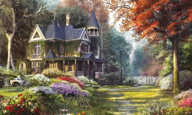 Victorian Garden Tea Time Jigsaw Puzzle