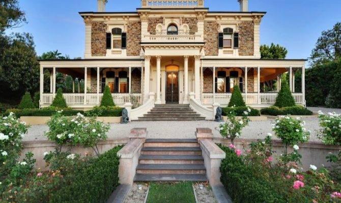 Victorian House Exterior Balustrades Hedging Facade