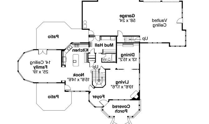 Victorian House Plan Canterbury First Floor
