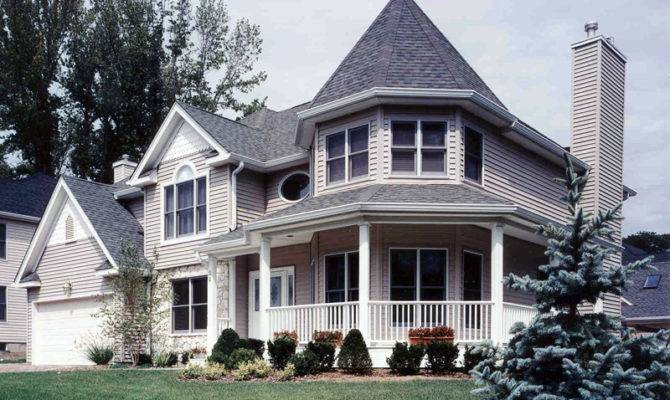 Victorian House Plans Turrets Cascade Hill Home Plan