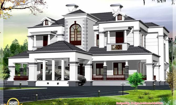 Victorian Style Bhk Home Design Kerala Floor Plans