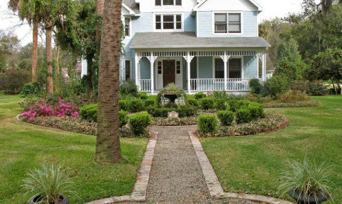 Victorian Style House Formal Gardens Traditional