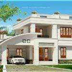 Villa Exterior Square Feet Home Kerala Plans