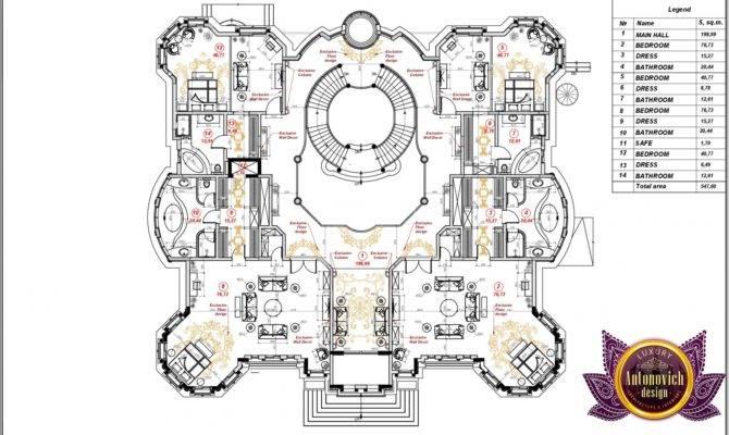 Villa Floor Plan Uae Small Plans Large Villas