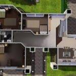 Villa Modern House Floor Plans Sims Home Design