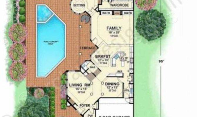 Villa Zeno Narrow Floor Plans Texas Style