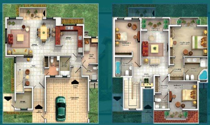 Villas Floor Plans Dubai Sports City Attached