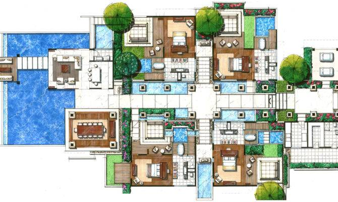 Villas Floor Plans Resorts Joy Studio Design Home