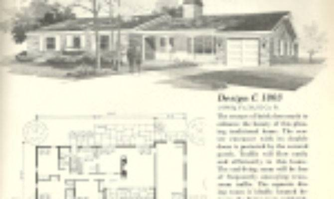 Vintage House Plans Ranches Shaped Homes