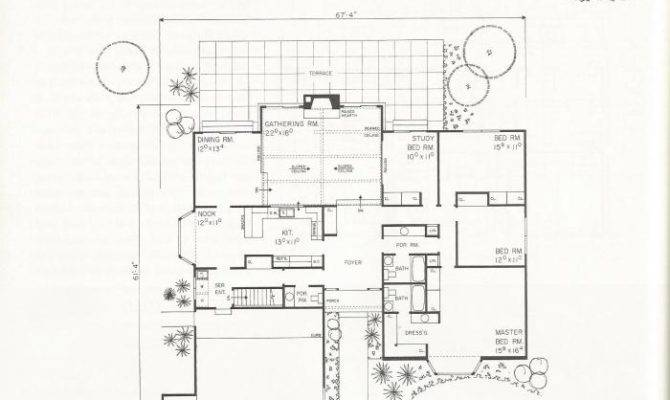 Vintage House Plans Shaped Homes Over Square Feet